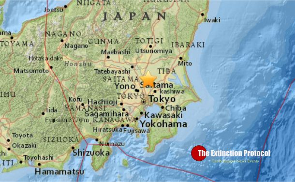 May 2016 – JAPAN – A magnitude-5.5 earthquake hit the Kanto region Monday evening, shaking northern Ibaraki Prefecture with an intensity of lower 5 on the Japanese scale and 4 in wide areas i… 5/16/2015