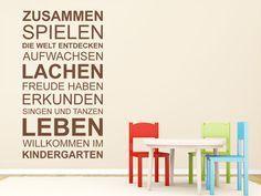 Mit dem Wandtattoo Kindergarten Spruchband kannst Du Deine Wand kreativ gestalten.