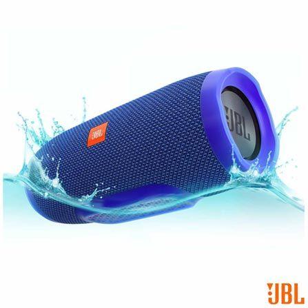 Caixa Acústica Bluetooth JBL à Prova d'Água Azul - CHARGE 3, Azul, Caixas Portáteis, Sim, 20 W, Sim, Não, Não se aplica, 12 meses