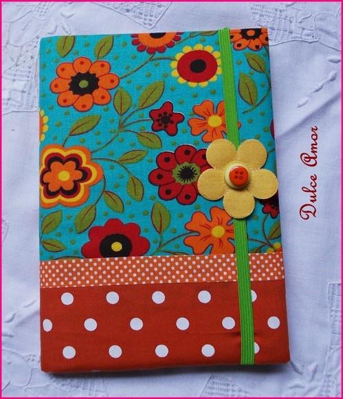 mudamos para www.dulceamor.tanlup.com te espero lá  caderno brochura acolchoado 48 fls tecido 100% algodao produto feito a mao nao lavavel