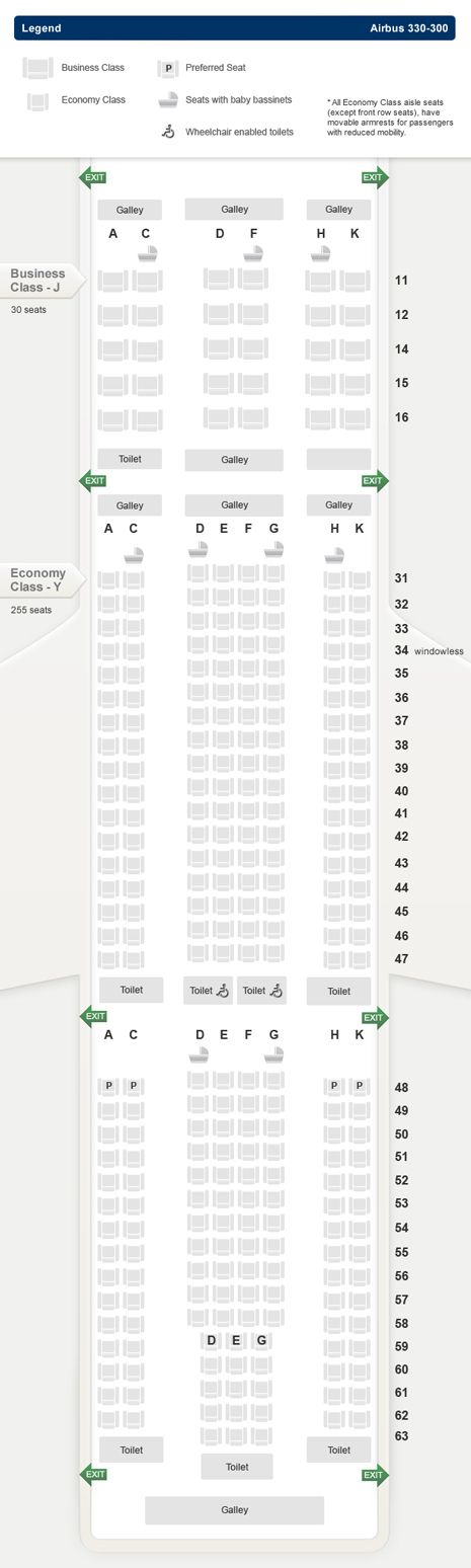 17 Best Ideas About Airbus A330 300 Seating On Pinterest
