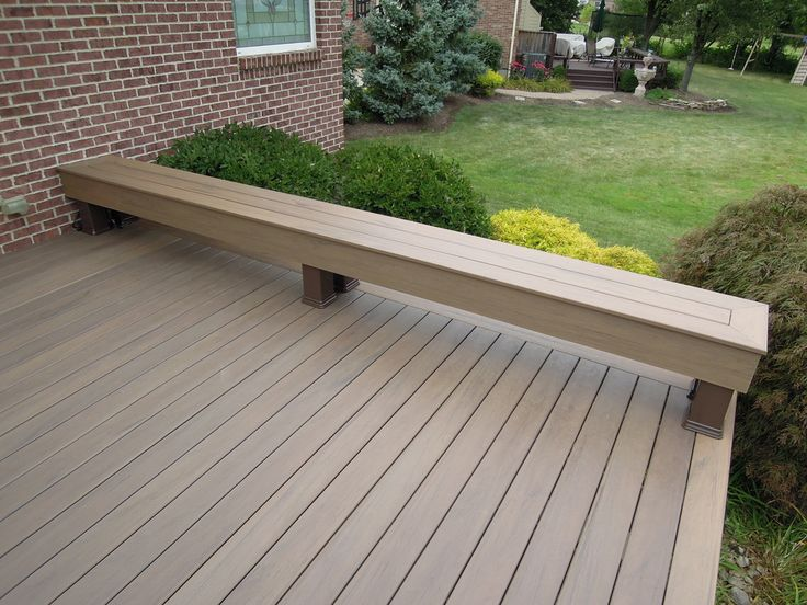 how to build a patio deck bench