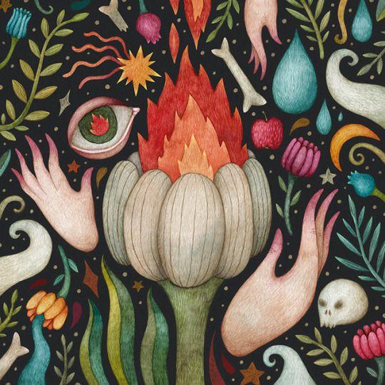 Wild fire. Olga Svart Illustration