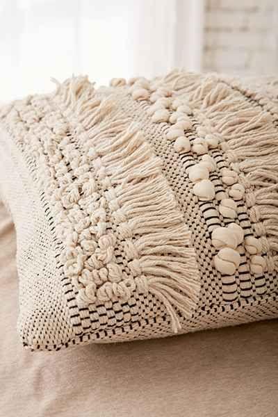 Anita Woven Shag Pillow - Urban Outfitters