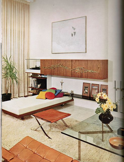 287 best images about 60s interiors on pinterest for Modern retro interior