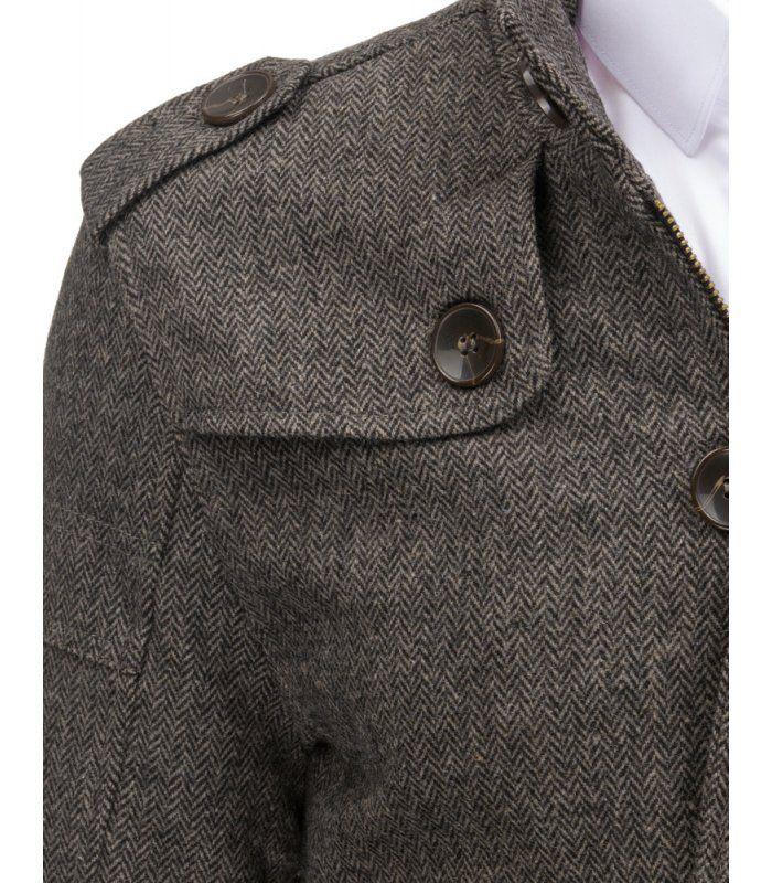 Pánsky šedý plášť