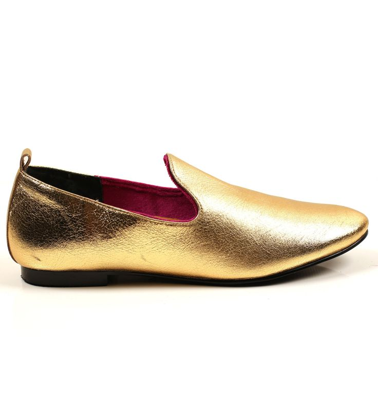 Radical Yes 'Dharma' Manstyle Slipper - True Gold Leather