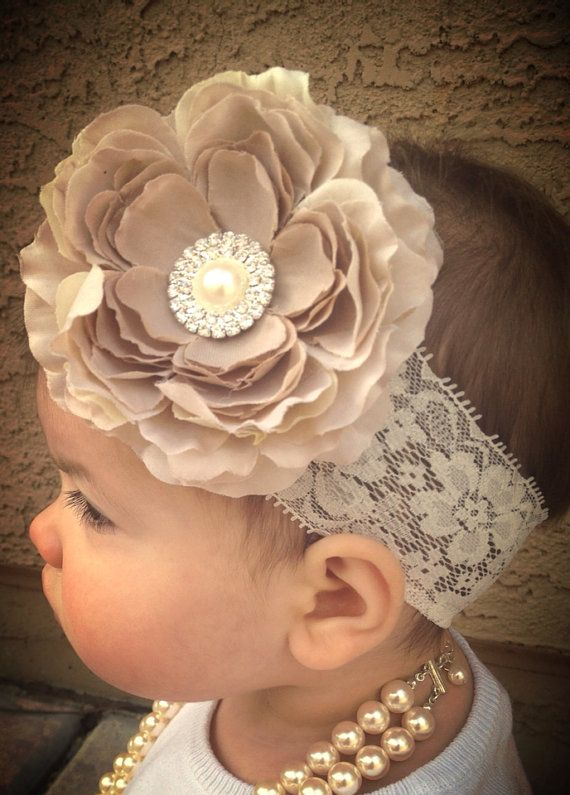 15% OFF Entire Shop. Baby/Toddler Big Flower Headband, lace headband, toddler flower headband, baby flower headband, baby headbands  on Etsy, $13.00