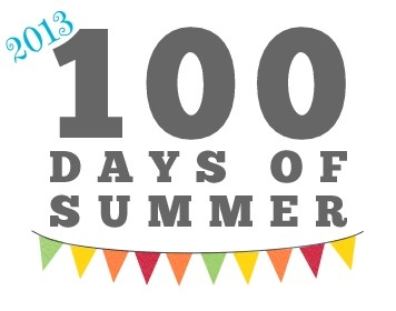 100 Days of Summer 2013.  These are 100 activities that are all low to no cost, screen-free, and a fun way to build truly memorable moments with your kids in the summer months.