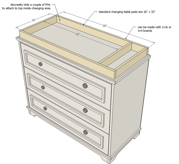 ana white build a fillman dresser or changing table free and easy diy project