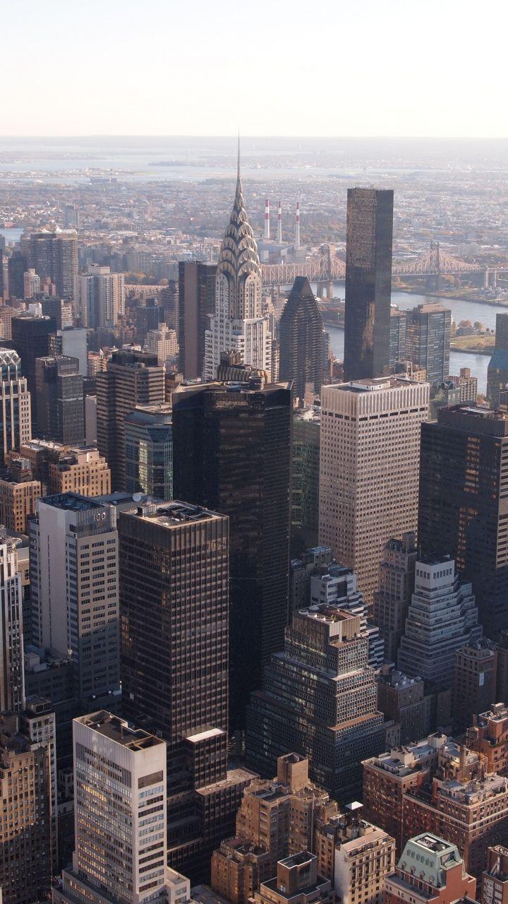 Manhattan New York Buildings Cityscape 720x1280 Wallpaper City Iphone Wallpaper Manhattan Wallpaper City Landscape