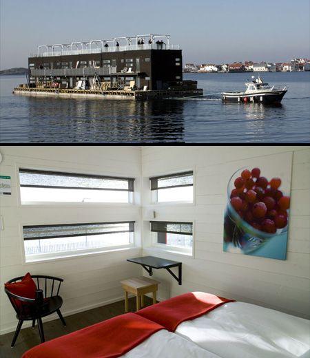 Hotel flotante, Suecia