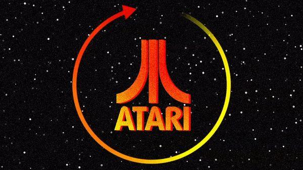 refresh arrow circling around atari logo