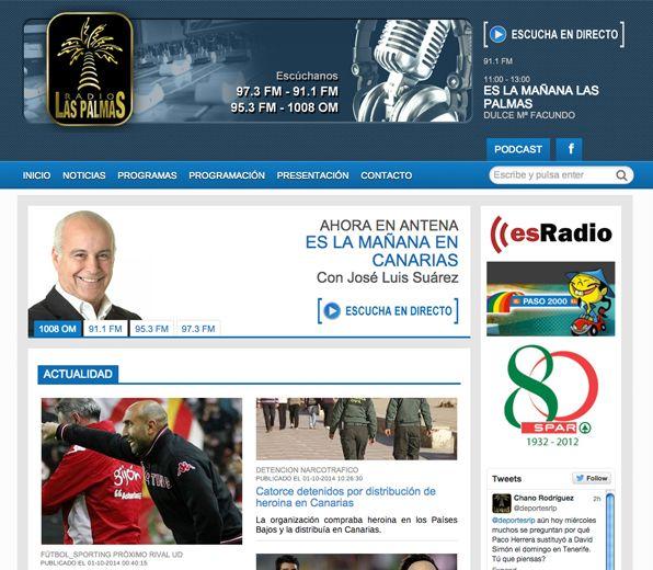 Radiolaspalmas.com Desarrollo de la página web de la emisora de radio Radio Las Palmas. #web_design #web #paginas_web #web_las_palmas #web_canarias #paginas_web_las_palmas #paginas_web_canarias