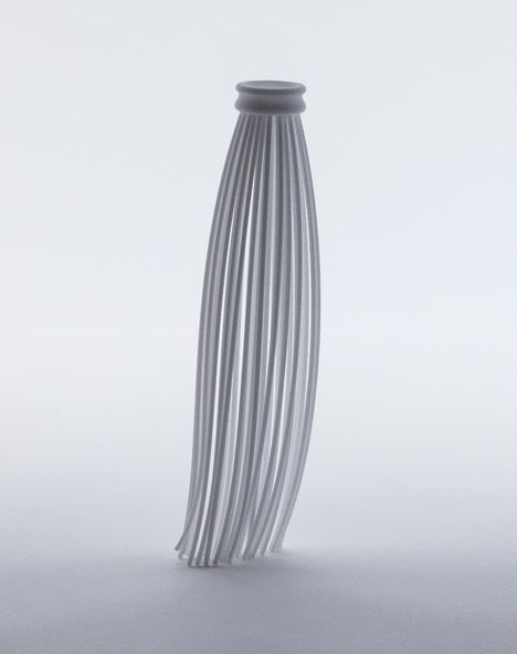 Peroni's new beer bottle design abstracted into 3D-printed shapes.