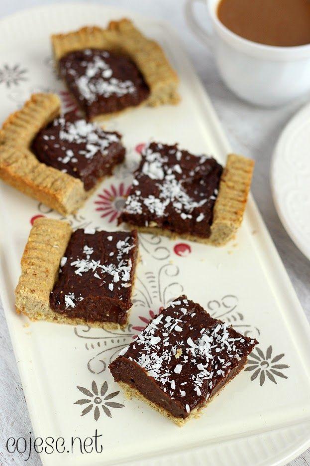 Dietetyczny mazurek czekoladowy (bezglutenowy) | Zdrowe przepisy Pauliny Styś