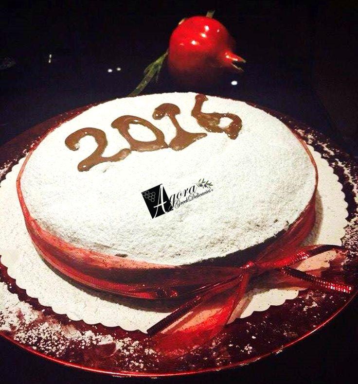 Agora 's New Year cake - Vasilopita! Order it now online http://agoragreekdelicacies.co.uk/online-shop/4570272291/Christmas-Sweets #vasilopita #greek #cake #newyear #2016 #agoramoments