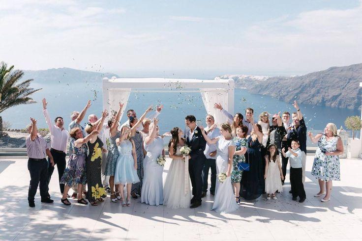 Smith Grant & McSevich Emily .Santorini Weddings, Wedding venue, Wedding ceremony and reception, Sunset view, Ionian Weddings.