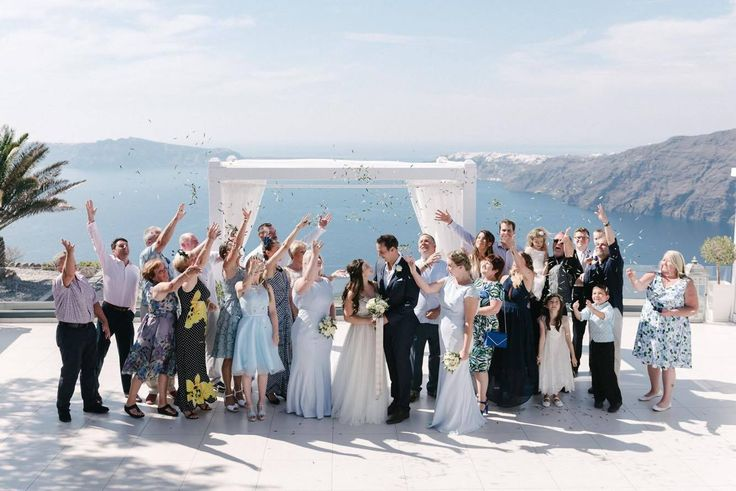 Smith Grant & McSevich Emily .Santorini Weddings, Wedding venue, Wedding ceremony and reception, Sunset view, Ionian Weddings.