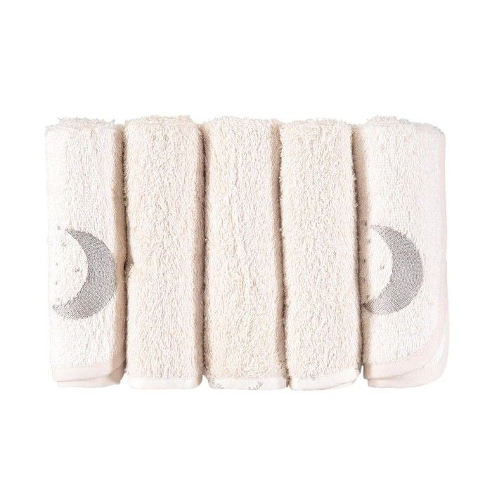 Moon Cotton Facecloths 5 Pack