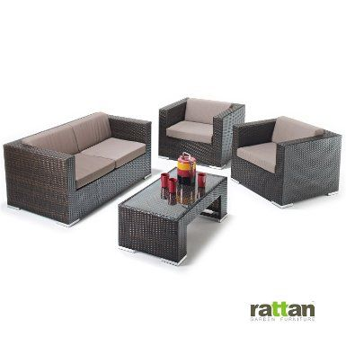 Rattan Garden Furniture Sale! Sofa with 2x Chairs and Coffee Table Amazing Deal!: Amazon.co.uk: Sports & Outdoors