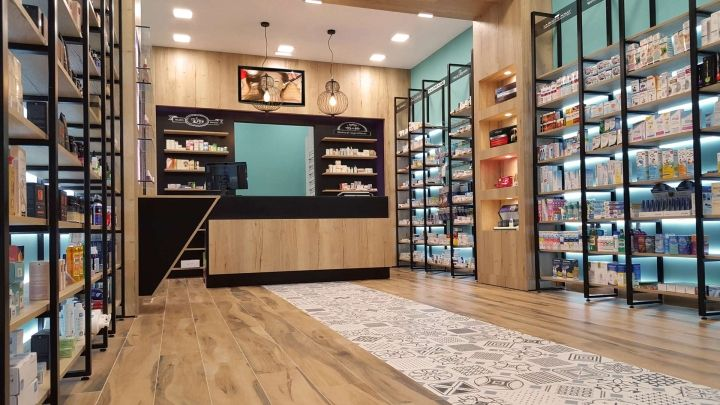 Stefania Tsikandilakis pharmacy by Lefteris Tsikandilakis, Heraklion, Crete – Greece » Retail Design Blog