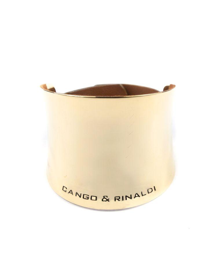 Cango & Rinaldi Náramok zlatý,talianska koža