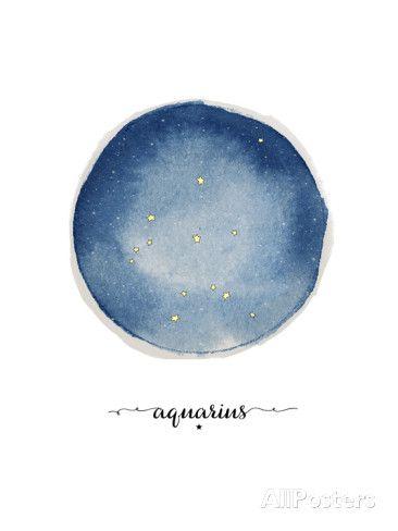 Aquarius Circle Art Print