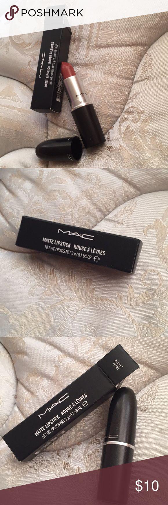 MAC Velvet Teddy Matte Lipstick Brand new Mac Matte Lipstick in Velvet Teddy MAC Cosmetics Makeup Lipstick