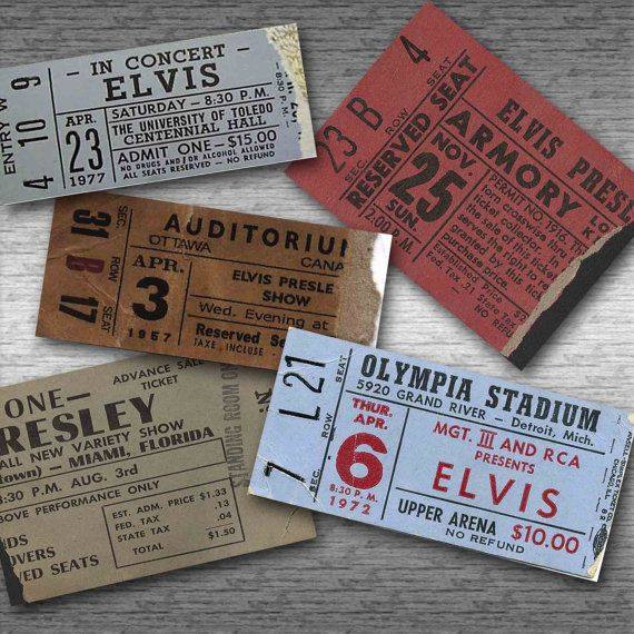 16 best tickets - collages and retro images on Pinterest Concert - concert tickets design