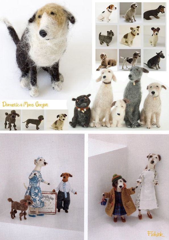 This is the needle felted art of   Domenica More Gordon of   Edinburgh, Scotland