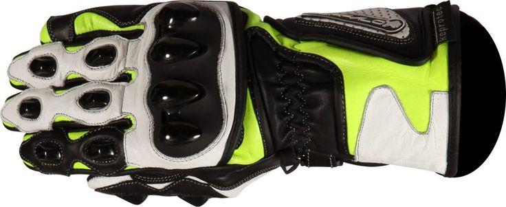 Buffalo BR30 Summer Motorcycle Gloves Black Neon Side