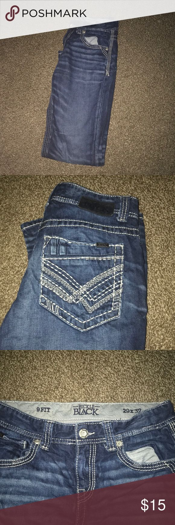 Buckle jeans for men. 29x32 Barely worn blue jeans from buckle. These are in really good condition and have no wear or tear. Stitching is nice and material is amazing. Buckle Jeans Bootcut