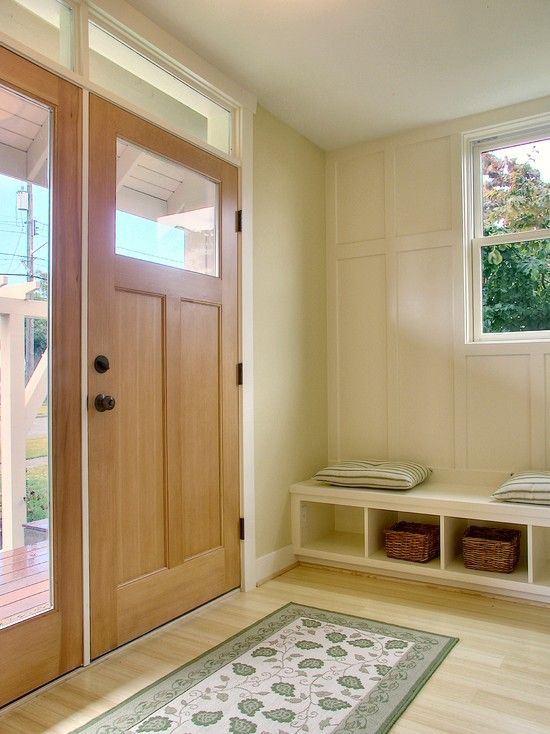 Simple and organized entrway: The Doors, Ideas, Entryway Benches, Mud Rooms, Wardrobe, Front Doors, Entry Bench,  Closet,  Press