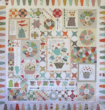 GOSSIP IN THE GARDEN quilt pattern
