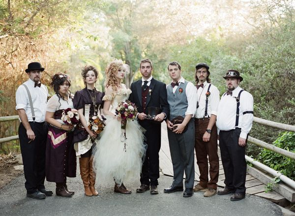 Victorian Steampunk Wedding (halloween costume ideas)