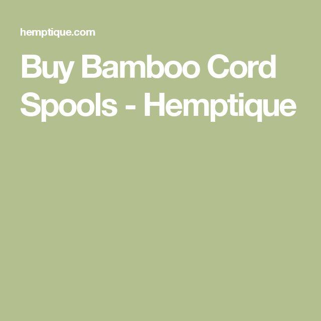 Buy Bamboo Cord Spools - Hemptique
