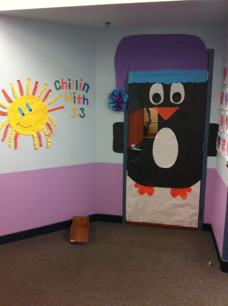 Penguin Classroom Door Decoration We Made This One Freehand From An Idea Saw Online