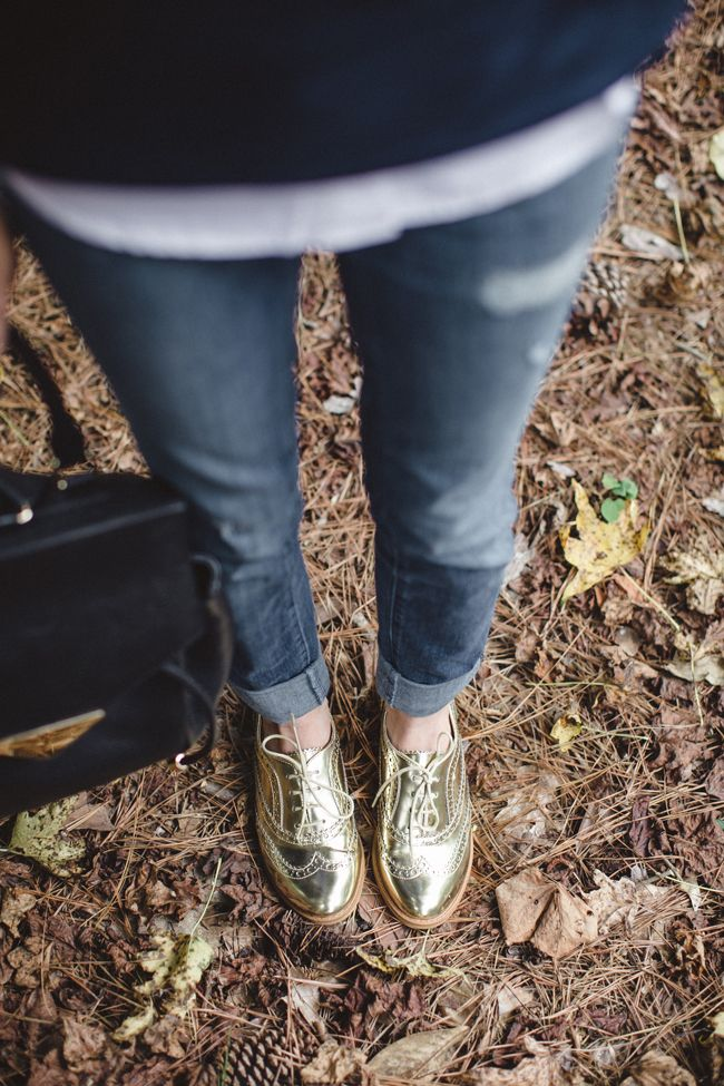 Fall 2014 Fashion Trends and Essentials: metallic oxfords #theeverygirl