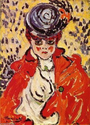 Ciudad de la pintura - VLAMINCK, Maurice de French Fauvist (1876-1958) Portrait of a Woman 1905-1906