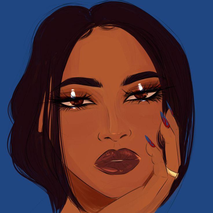 cherie kisa   Girls cartoon art, Black girl magic art