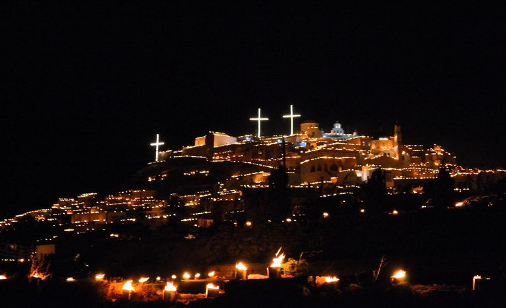 Easter festivities in Santorini, Pyrgos village!