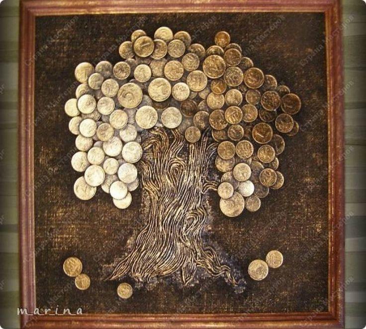 Мастер-класс по изготовлению панно «Денежное дерево» с помощью монет