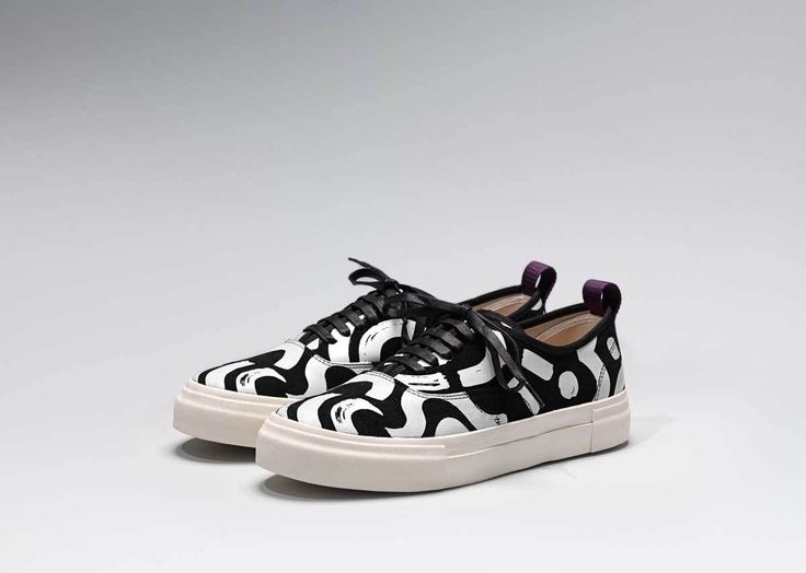 #Eytys x 10 Corso Como Mother Suede Sneakers with artwork based on Jessica Hans's signature sculptures.