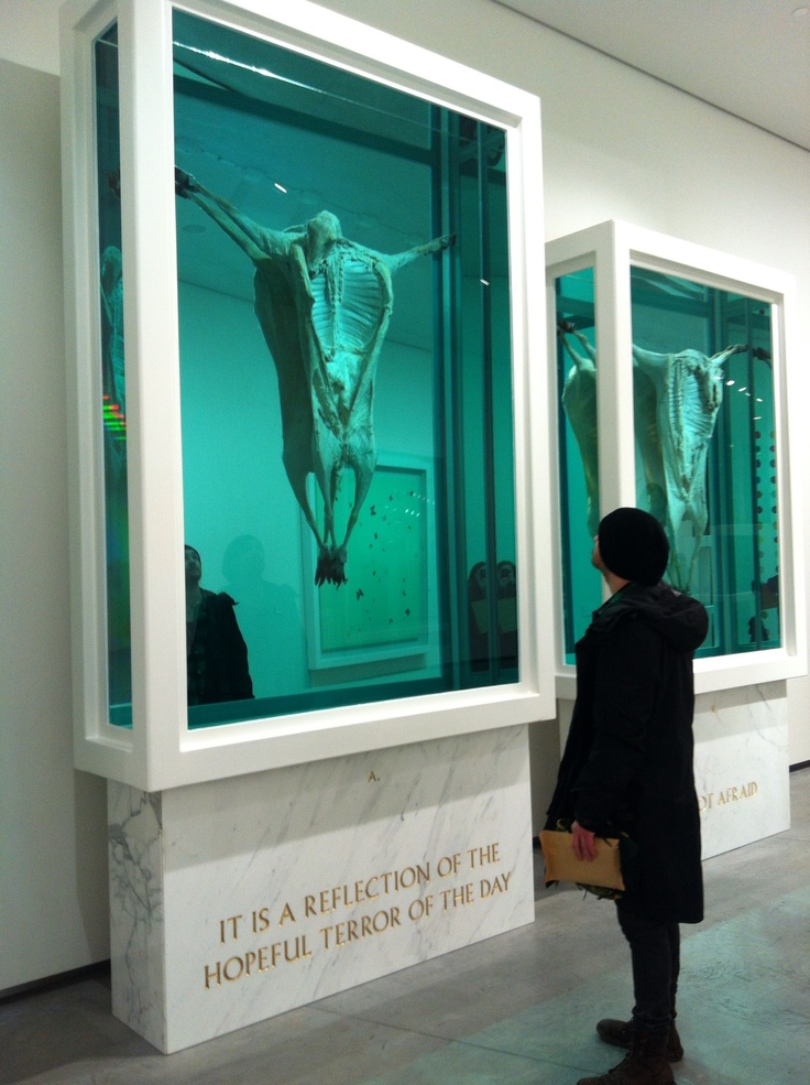 Damien hirst, real crucified animals | Art-Damien Hirst ...