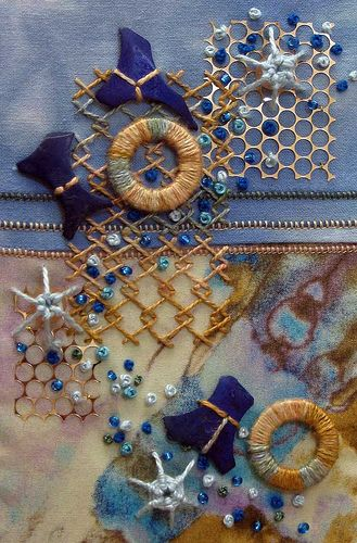 Fabric, sewing, collage, inspiration.