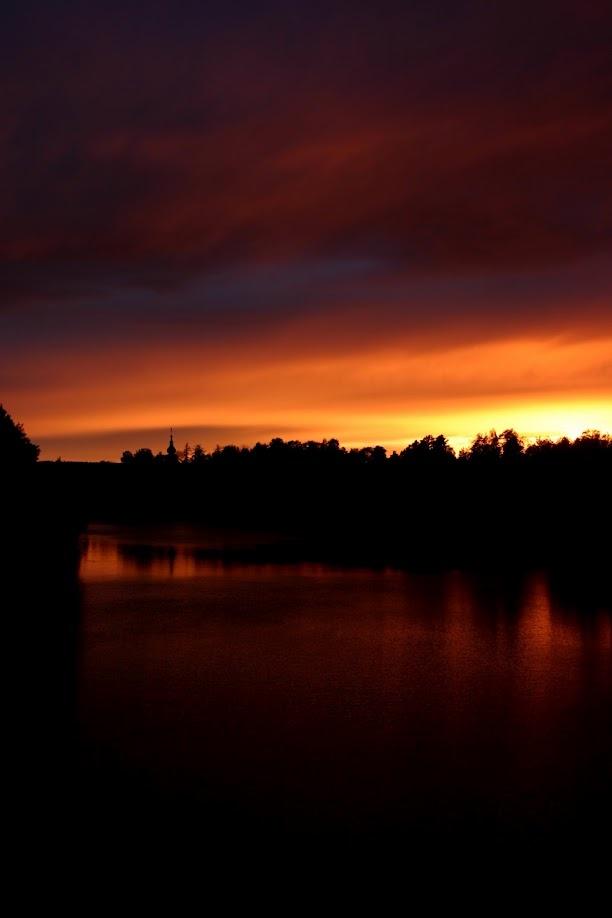 Sunset in Leksand, Sweden