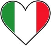 hmmm with initials she writes.  The Italian Flag In The Shape Of A Heart Royalty Free Cliparts, Vectors, And Stock Illustration. Image 4363353.