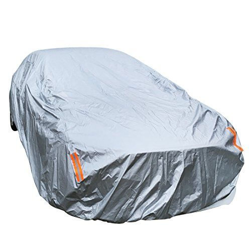 "WaterProof Breathable Full Size Sedan Car Cover Indoor Outdoor UV Rain Dust Snow Resistant Universal Fit(Fits Up to 190""). For product info go to:  https://www.caraccessoriesonlinemarket.com/waterproof-breathable-full-size-sedan-car-cover-indoor-outdoor-uv-rain-dust-snow-resistant-universal-fitfits-up-to-190/"