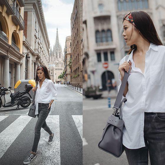 women's street style | minimal, casual style | half tucked shirt | more looks by Jenny Tsang: http://lb.nu/tsangtastic